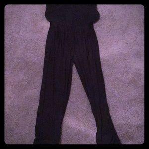 NWT Tube Top Black Jumpsuit Size Large